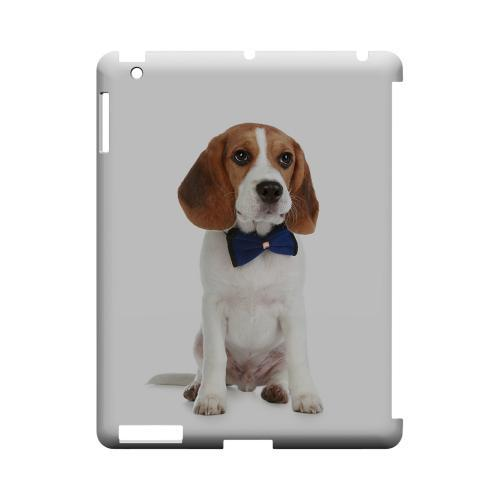 Beagle with Bow Tie Geeks Designer Line Puppy Series Slim Hard Case for Apple iPad (3rd & 4th Gen.)