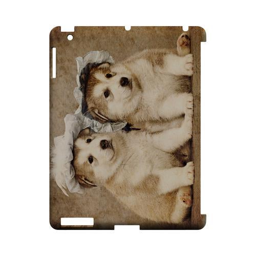 Alaskan Malamute Geeks Designer Line Puppy Series Slim Hard Case for Apple iPad (3rd & 4th Gen.)