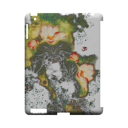 Lotus Flowers - Geeks Designer Line (GDL) Asian Print Series Hard Back Cover for Apple iPad (3rd & 4th Gen.)