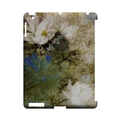 White Lillies - Geeks Designer Line (GDL) Asian Print Series Hard Back Cover for Apple iPad (3rd & 4th Gen.)