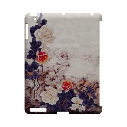 Vintage Roses - Geeks Designer Line (GDL) Asian Print Series Hard Back Cover for Apple iPad (3rd & 4th Gen.)