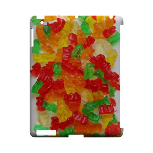 Multi-Colored Gummy Bears Geeks Designer Line Candy Series Slim Hard Back Cover for Apple iPad (3rd & 4th Gen.)