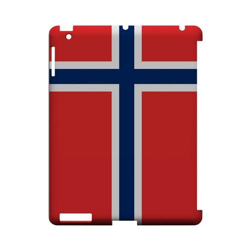 Norway Geeks Designer Line Flag Series Slim Hard Case for Apple iPad (3rd & 4th Gen.)