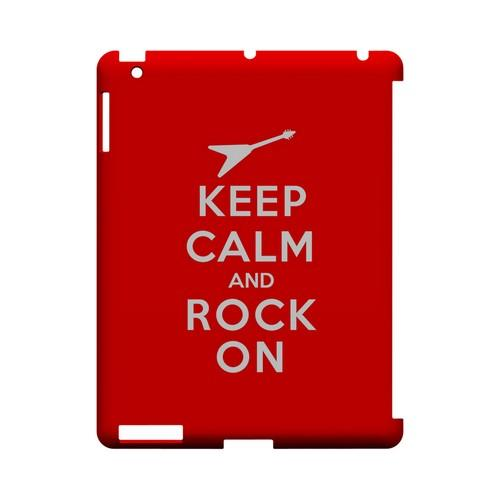 Red Rock On Geeks Designer Line Keep Calm Series Slim Hard Case for Apple iPad (3rd & 4th Gen.)