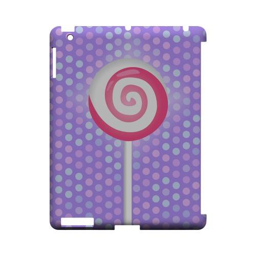 Pink Lollipop Geeks Designer Line Candy Series Slim Hard Back Cover for Apple iPad (3rd & 4th Gen.)