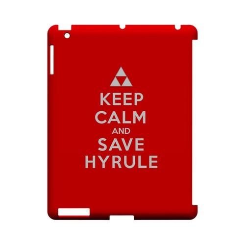 Red Save Hyrule Geeks Designer Line Keep Calm Series Slim Hard Case for Apple iPad (3rd & 4th Gen.)
