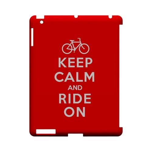 Red Ride On Geeks Designer Line Keep Calm Series Slim Hard Case for Apple iPad (3rd & 4th Gen.)