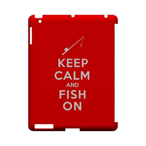 Red Fish On Geeks Designer Line Keep Calm Series Slim Hard Case for Apple iPad (3rd & 4th Gen.)