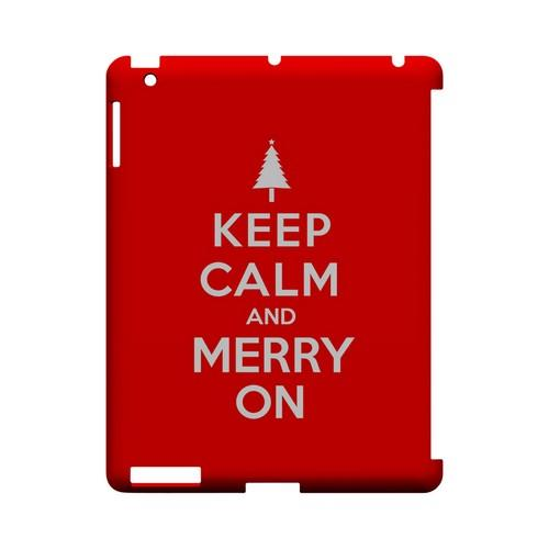 Red Merry On Geeks Designer Line Keep Calm Series Slim Hard Case for Apple iPad (3rd & 4th Gen.)