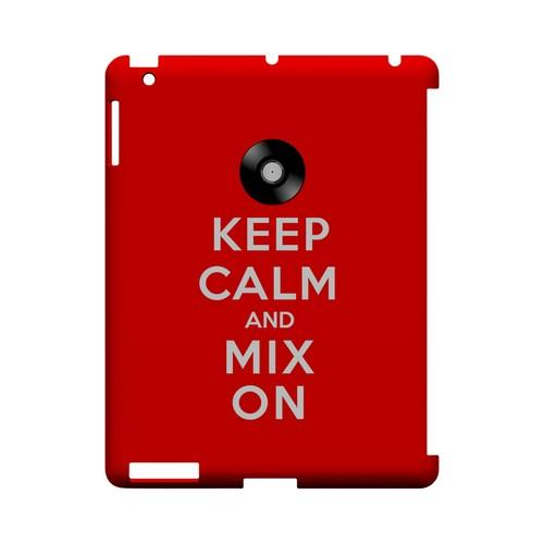 Red Mix On Geeks Designer Line Keep Calm Series Slim Hard Case for Apple iPad (3rd & 4th Gen.)
