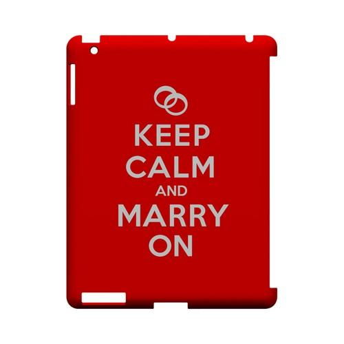 Red Marry On Geeks Designer Line Keep Calm Series Slim Hard Case for Apple iPad (3rd & 4th Gen.)