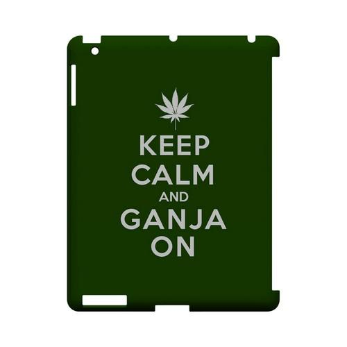 Green Ganja On Geeks Designer Line Keep Calm Series Slim Hard Case for Apple iPad (3rd & 4th Gen.)