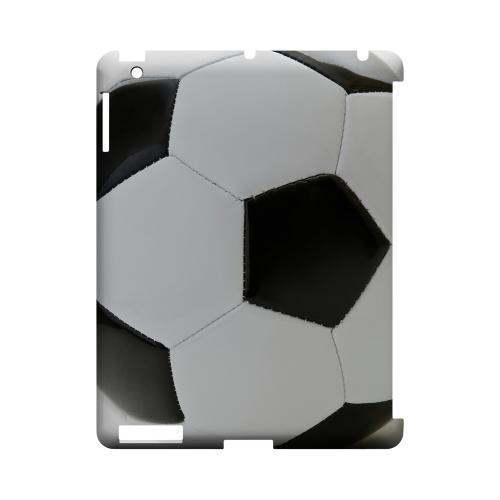 Soccer Ball Geeks Designer Line Sports Series Slim Hard Case for Apple iPad (3rd & 4th Gen.)