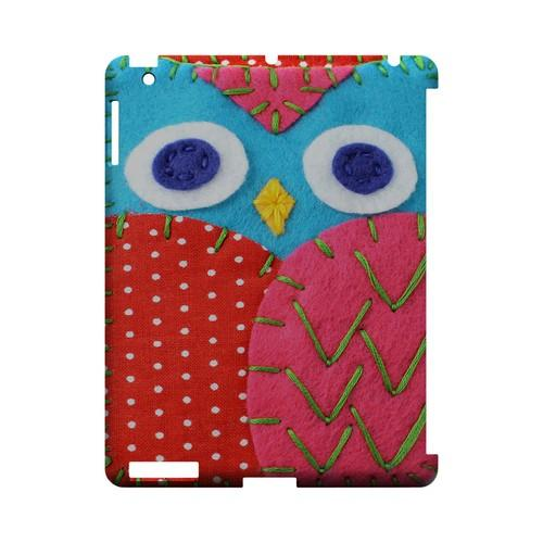Sky Blue/ Pink Owl Geek Nation Program Exclusive Jodie Rackley Series Hard Case for Apple iPad (3rd & 4th Gen.)