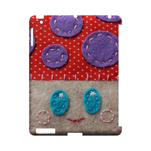 Red/ Purple Mushroom Geek Nation Program Exclusive Jodie Rackley Series Hard Case for Apple iPad (3rd & 4th Gen.)