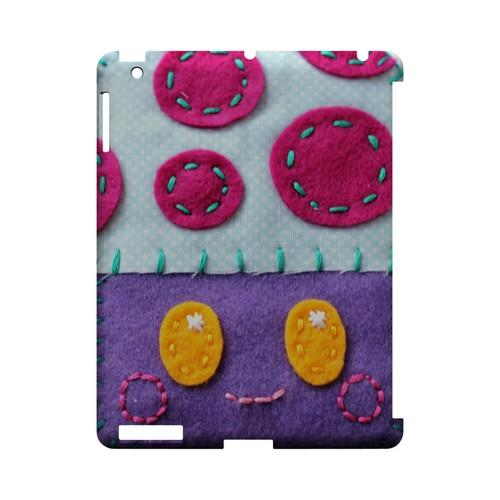 Purple/ Pink Mushroom Geek Nation Program Exclusive Jodie Rackley Series Hard Case for Apple iPad (3rd & 4th Gen.)