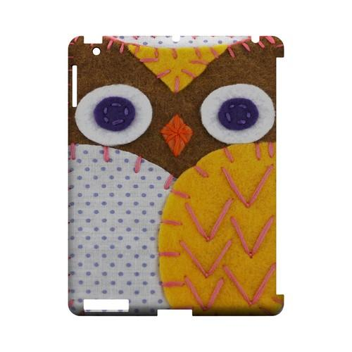 Brown/ Orange Owl Geek Nation Program Exclusive Jodie Rackley Series Hard Case for Apple iPad (3rd & 4th Gen.)