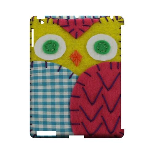 Yellow/ Maroon Owl Geek Nation Program Exclusive Jodie Rackley Series Hard Case for Apple iPad (3rd & 4th Gen.)