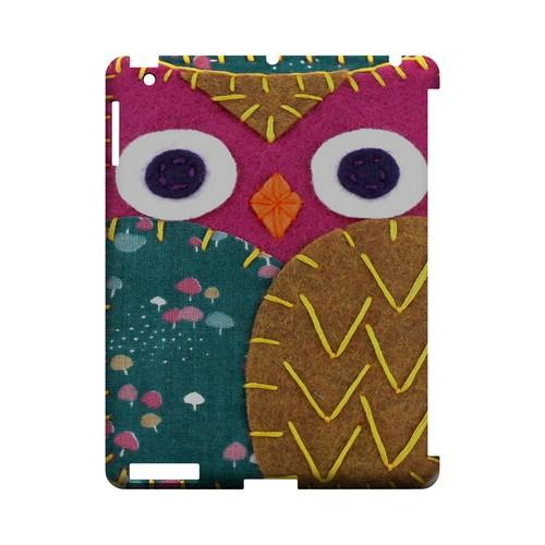Hot Pink/ Brown Owl Geek Nation Program Exclusive Jodie Rackley Series Hard Case for Apple iPad (3rd & 4th Gen.)