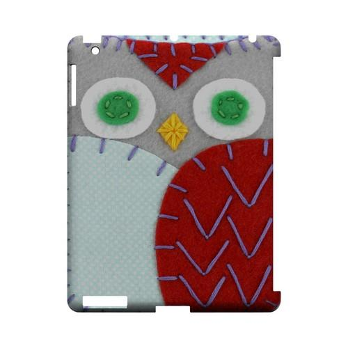 Gray/ Red Owl Geek Nation Program Exclusive Jodie Rackley Series Hard Case for Apple iPad (3rd & 4th Gen.)
