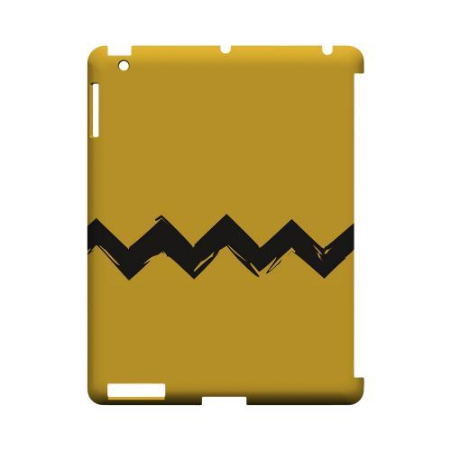 Yellow Good Grief! Geeks Designer Line Zig Zag Series Slim Hard Case for Apple iPad (3rd & 4th Gen.)