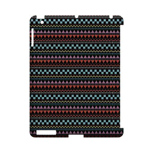 Multi-Shapes & Colors on Black Geeks Designer Line Zig Zag Series Slim Hard Case for Apple iPad (3rd & 4th Gen.)