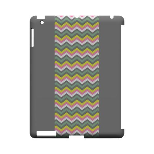 Pink/ Yellow/ Gray/ Green Geeks Designer Line Zig Zag Series Slim Hard Case for Apple iPad (3rd & 4th Gen.)