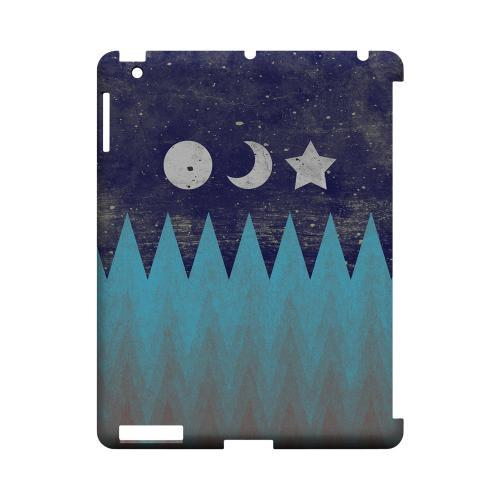 Sun Moon Star Geeks Designer Line Zig Zag Series Slim Hard Case for Apple iPad (3rd & 4th Gen.)