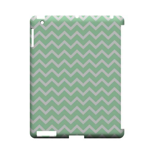 White on Mint Geeks Designer Line Zig Zag Series Slim Hard Case for Apple iPad (3rd & 4th Gen.)