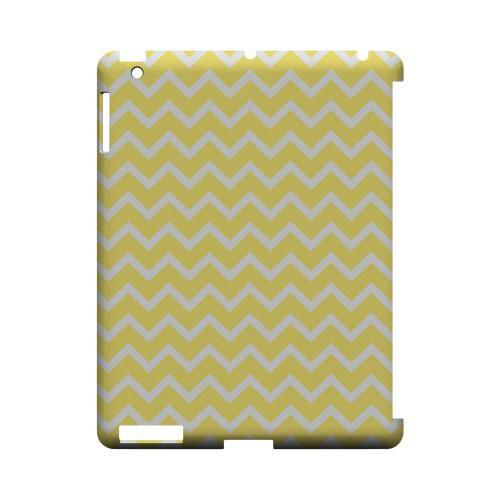 White on Yellow Geeks Designer Line Zig Zag Series Slim Hard Case for Apple iPad (3rd & 4th Gen.)