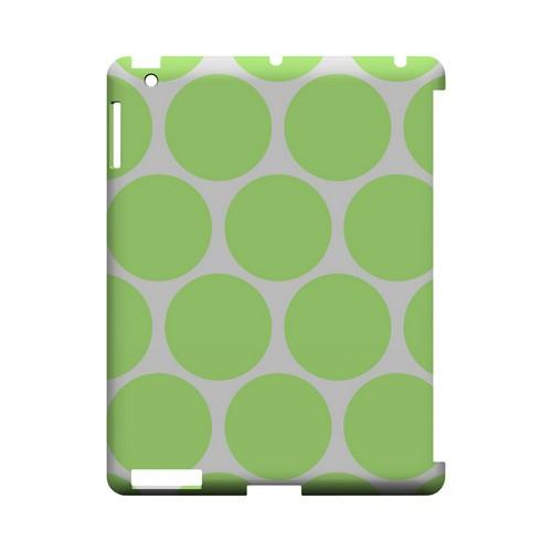 Big & Lime Green Geeks Designer Line Polka Dot Series Slim Hard Case for Apple iPad (3rd & 4th Gen.)