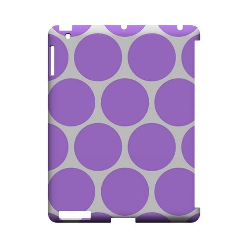 Big & Purple Geeks Designer Line Polka Dot Series Slim Hard Case for Apple iPad (3rd & 4th Gen.)