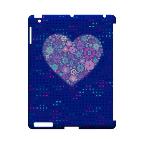 Shimmer Blue Dots & Heart Geeks Designer Line Polka Dot Series Slim Hard Case for Apple iPad (3rd & 4th Gen.)