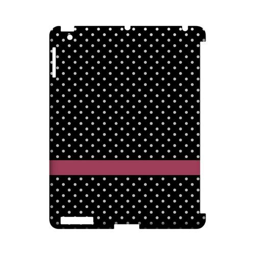 Pink Horizontal Stripe Geeks Designer Line Polka Dot Series Slim Hard Case for Apple iPad (3rd & 4th Gen.)
