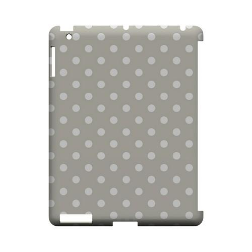White Dots on Khaki Geeks Designer Line Polka Dot Series Slim Hard Case for Apple iPad (3rd & 4th Gen.)