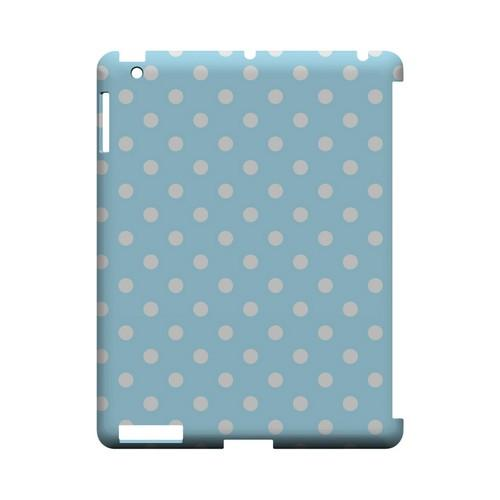 White Dots on Sky Blue Geeks Designer Line Polka Dot Series Slim Hard Case for Apple iPad (3rd & 4th Gen.)