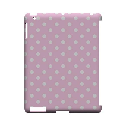 White Dots on Baby Pink Geeks Designer Line Polka Dot Series Slim Hard Case for Apple iPad (3rd & 4th Gen.)