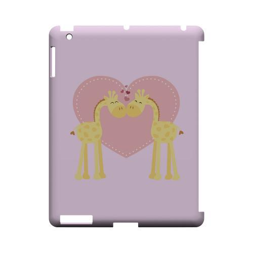 Giraffe Love on Baby Pink Geeks Designer Line Heart Series Slim Hard Case for Apple iPad (3rd & 4th Gen.)