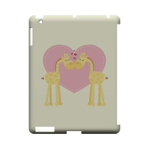 Giraffe Love on Light Yellow Geeks Designer Line Heart Series Slim Hard Case for Apple iPad (3rd & 4th Gen.)