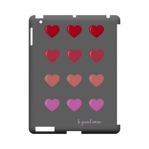 Le Grand Amour Geeks Designer Line Heart Series Slim Hard Case for Apple iPad (3rd & 4th Gen.)