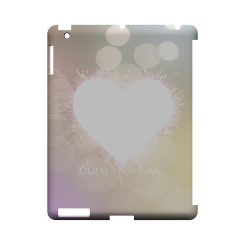 Pure Love Geeks Designer Line Heart Series Slim Hard Case for Apple iPad (3rd & 4th Gen.)