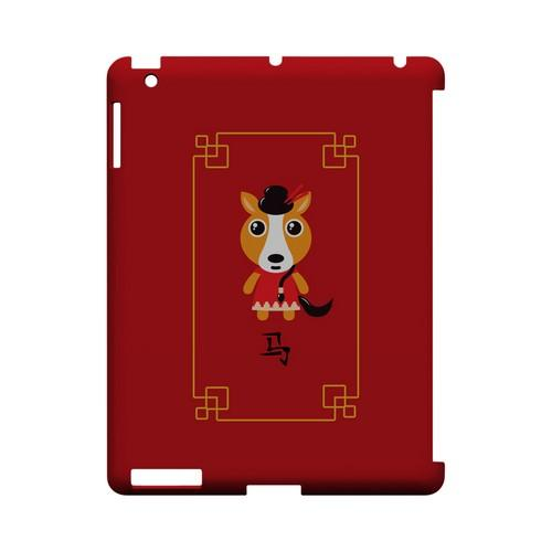 Chibi Horse Geeks Designer Line Chinese Horoscope Series Slim Hard Case for Apple iPad (3rd & 4th Gen.)