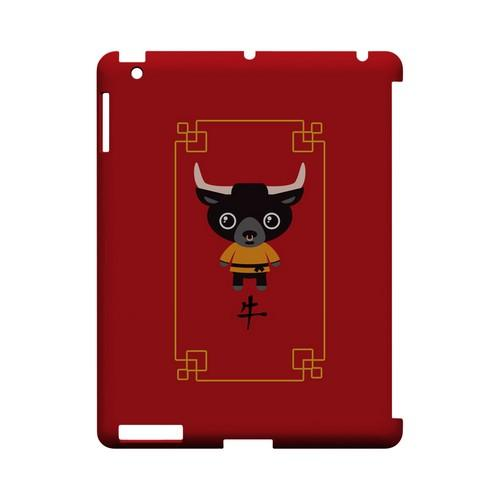 Chibi Ox Geeks Designer Line Chinese Horoscope Series Slim Hard Case for Apple iPad (3rd & 4th Gen.)