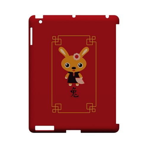 Chibi Rabbit Geeks Designer Line Chinese Horoscope Series Slim Hard Case for Apple iPad (3rd & 4th Gen.)