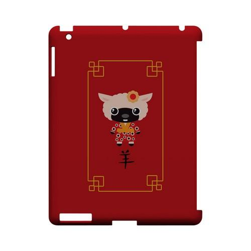 Chibi Sheep Geeks Designer Line Chinese Horoscope Series Slim Hard Case for Apple iPad (3rd & 4th Gen.)