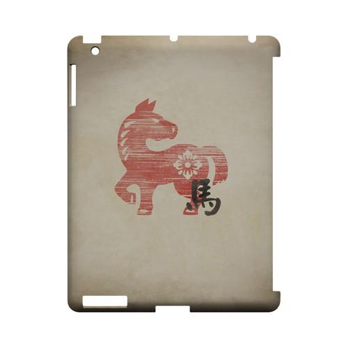 Grunge Horse Geeks Designer Line Chinese Horoscope Series Slim Hard Case for Apple iPad (3rd & 4th Gen.)
