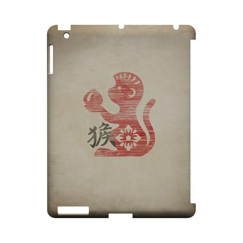 Grunge Monkey Geeks Designer Line Chinese Horoscope Series Slim Hard Case for Apple iPad (3rd & 4th Gen.)