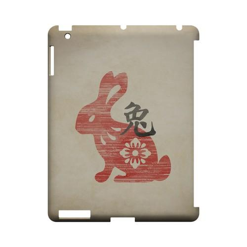 Grunge Rabbit Geeks Designer Line Chinese Horoscope Series Slim Hard Case for Apple iPad (3rd & 4th Gen.)