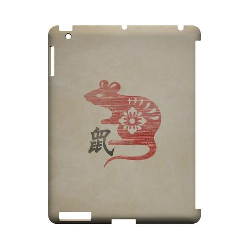 Grunge Rat Geeks Designer Line Chinese Horoscope Series Slim Hard Case for Apple iPad (3rd & 4th Gen.)