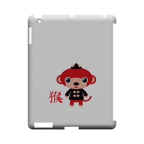 Monkey on White Geeks Designer Line Chinese Horoscope Series Slim Hard Case for Apple iPad (3rd & 4th Gen.)